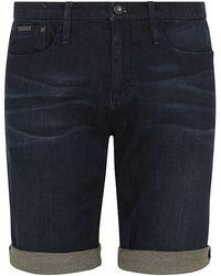 Calvin Klein Slim Fit Denim Shorts - Lyst