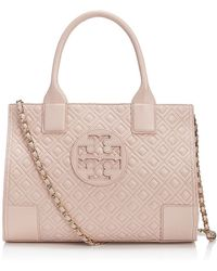 Tory Burch Ella Quilted Mini Tote - Lyst