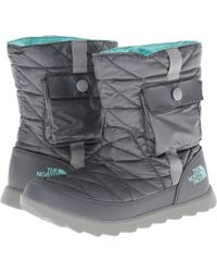 The North Face Gray Thermoball Bootie - Lyst