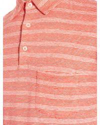Richard James - Striped Jersey Polo Shirt - Lyst