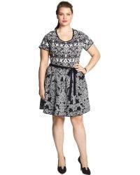 Jessica Simpson - Plus Aline Jacquard Jumper Dress - Lyst