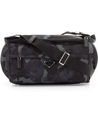 232a8a6b7dd6 ... best price prada camo nylon medium messenger bag lyst ee4a5 17a70