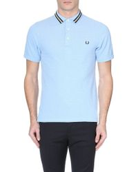 Fred Perry Tape-Detail Cotton-Piqué Polo Shirt - For Men - Lyst