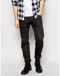 Diesel Jeans Darron Regular Slim Fit 8Qu Charcoal Overdye - Lyst