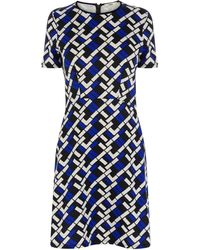 Oasis Geo Texture Print Shift Dress - Lyst