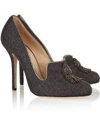 Oscar de la Renta Ciciliapla Tasseled Tweed Pumps - Lyst