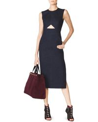 Tamara Mellon Sleeveless Denim Sheath Dress blue - Lyst