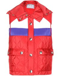 Miu Miu Quilted Shell Vest - Lyst