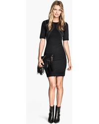 H&M Jersey Dress with Studs - Lyst