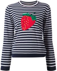 MUVEIL - Stripe And Strawberry Print Top - Lyst