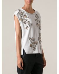 By Malene Birger Bice Embellished Top - Lyst