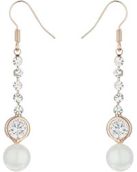 Mikey - Hanging Strip Crystals Earring - Lyst