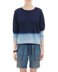 Bliss and Mischief - Dip-Dyed Cut-Off Carolina Sweatshirt - Lyst