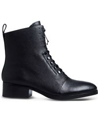 3.1 Phillip Lim Lace-Up Leather Ankle Boots black - Lyst