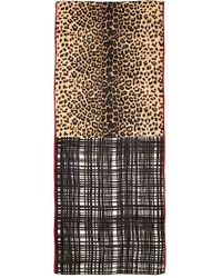 Tory Burch Leopard Mix Print Scarf - Neutral Multi - Lyst