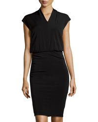 Philosophy di Alberta Ferretti Stretch-knit Illusion Dress - Lyst