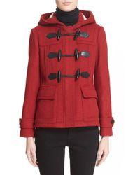 Burberry Brit - 'blackwell' Short Wool Duffle Coat - Lyst