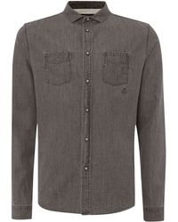 Label Lab Taro Chambray Shirt - Lyst