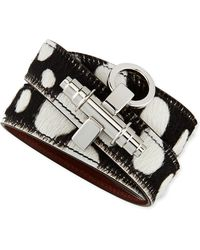 Givenchy Spotted Calf Hair Wrap Bracelet with Obsedia - Lyst