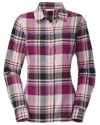 The North Face 'Pomeria' Plaid Flannel Shirt pink - Lyst