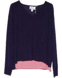 Acne Ink Blue V Neck Sweater - Lyst