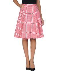 Peter Jensen Knee Length Skirt white - Lyst
