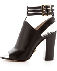 Michael Kors Collection Phaedra Open Toe Booties Black - Lyst