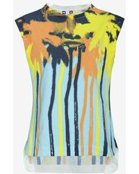 MSGM Palm Tree Print Tank - Lyst