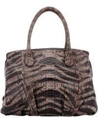 Zagliani - Python Passage Shoulder Bag-grey - Lyst