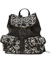 Pixie Market Ikat Leather Backpack - Lyst
