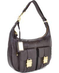 Badgley Mischka Lucia Nappa Leather Handbag - Lyst