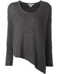 Helmut Lang Grey Assymetrical Sweater - Lyst