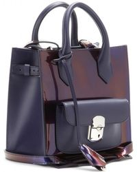 Balenciaga Padlock Mini All Afternoon Patent Leather Tote - Lyst