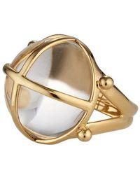 Asha Ainsley Ring, Rock Crystal - Lyst