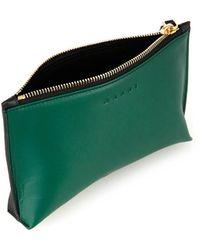 Marni Bi-colour Leather Make-up Bag - Lyst