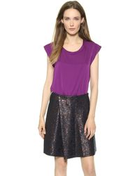 3.1 Phillip Lim Silk Muscle Tee Orchid - Lyst