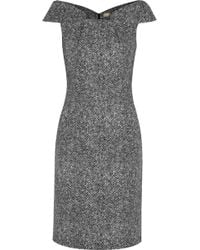 Michael Kors Origami Folded Wool Tweed Dress - Lyst