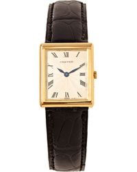 Foundwell Cartier Tank 18k with Deployant Flower Case Maker Piaget Movement From - Lyst
