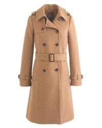 J.Crew Petite Icon Trench Coat In Wool-Cashmere - Lyst