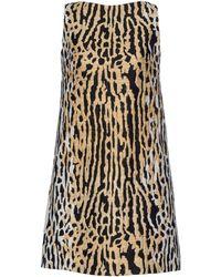 Valentino Short Dress animal - Lyst