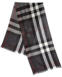 Burberry | Merino Wool & Cashmere Check Scarf | Lyst