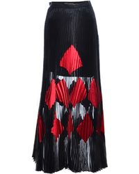 Georgia Hardinge - Fragment Pleat Maxi Skirt In Black - Lyst