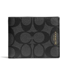 Coach Bleecker Slim Billfold Id Wallet in Signature Coated Canvas - Lyst