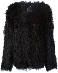 Ravn Knitted Lamb Fur Jacket - Lyst