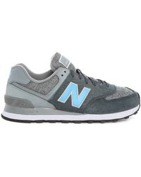 New Balance | black 574 Black-grey Suede Sneakers | Lyst