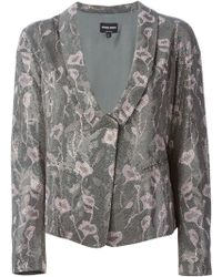 Giorgio Armani Embellished Floral Pink Jacket - Lyst