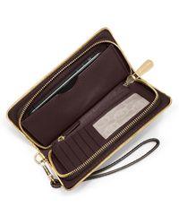 MICHAEL Michael Kors Jet Set Travel Specchio Large Multifunction Wallet - Lyst
