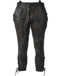 Le Cuir Perdu - Cropped Trouser - Lyst