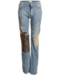 Aries Patchwork Boyfriend Jeans Ii By - Lyst