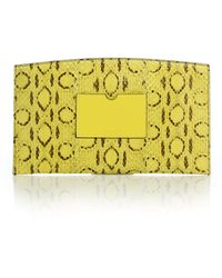 Reed Krakoff Atlantique Leather-Trimmed Snakeskin Pouch - Lyst